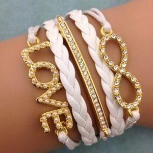 Jewelry - Vegan Leather Love Bracelet